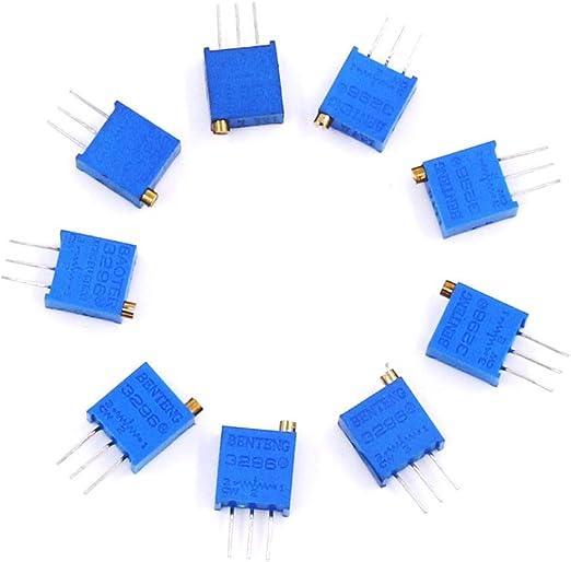 3296W 500K Ohm Variabler Widerstand für Mehrfachdreh-Potentiometer 5 Stk