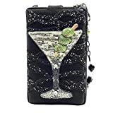 Mary Frances Shaken Beaded Jeweled Martini Glass Cocktail Drink Happy Hour Handbag Shoulder Bag