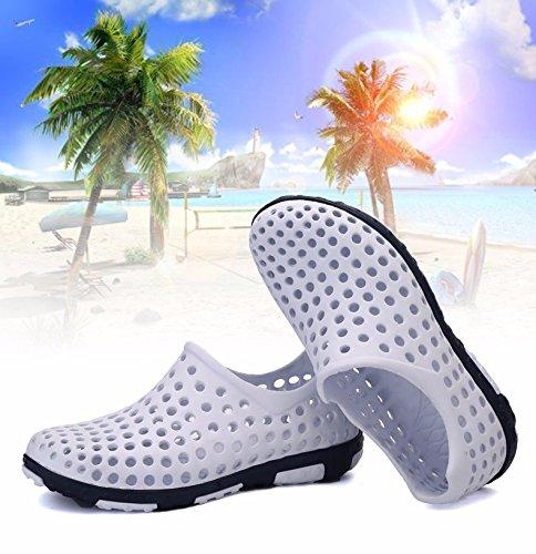 Il nuovo estate Uomini scarpa Buco scarpa mode Spiaggia scarpa Taglia larga traspirante sandali Roma Tempo libero scarpa Uomini ,bianca,US=8.5,UK=8,EU=42,CN=43