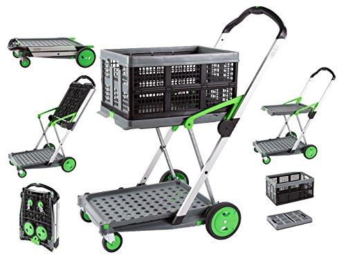 Clax Cart Mobile Folding Cart- Grey ()