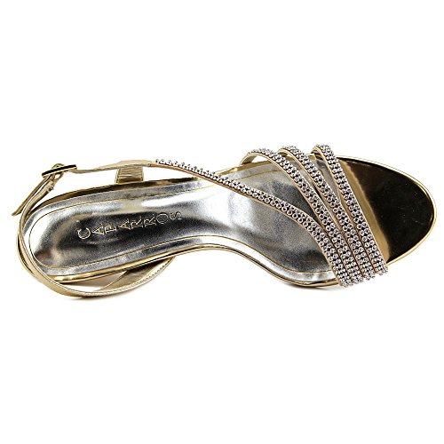 Caparros Donna Bethany Open Toe Occasione Speciale Oro Metallizzato