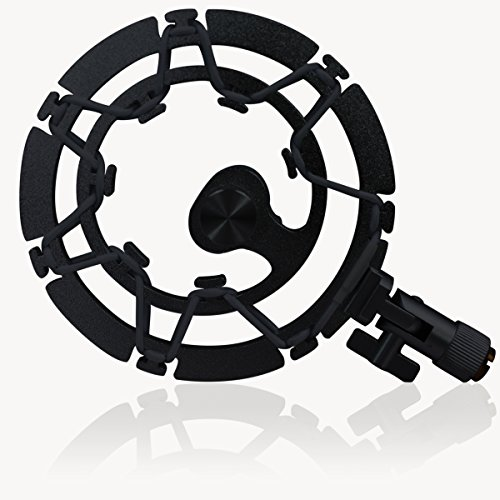 Aluminum Shock Mount (BLACK) For Blue Yeti Microphone by Auphonix