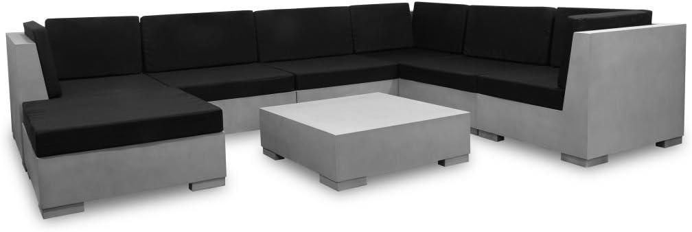 vidaXL conjunto de sofás de jardín exterior 24 pcs hormigón salón de jardín: Amazon.es: Hogar