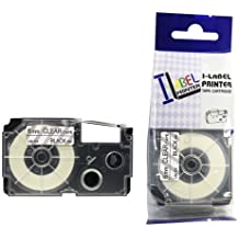 LM Tapes - Casio KL-60 6mm Black on Clear Compatible Label Tape for Casio KL60 EZ Label Printer