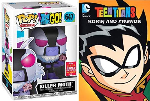 Killer Moth Teen Titans Episodes DVD Robin & Friends Cartoon Figure Pack DC Power Comic pop collectible]()