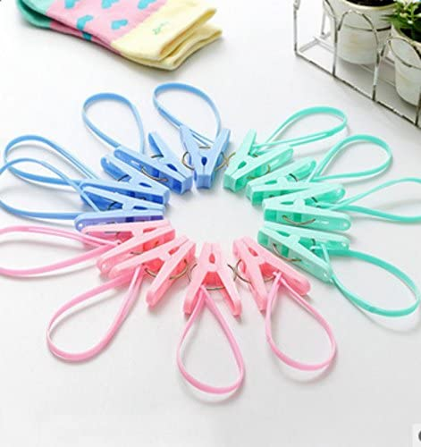 Da WA 12pcs creativo toalla de pinzas para la ropa Clips multiusos tendedero Clothespins Clips de utilidad color al azar