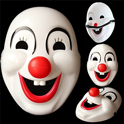 Disguises Costumes Colorado (Motorcycle Face Mask - Clown Red Nose Cosplay Mask For Halloween Cartoon Party Circ - Clown Cosplay Mask - 1PCs)