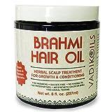 Brahmi Hair Oil (8 oz) by Vadik Herbs | All natural