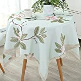 HOMEE Waterproof and anti hot oil cloth cotton cloth round round table disposable tablecloth Christmas decorations,D,Diameter 110cm