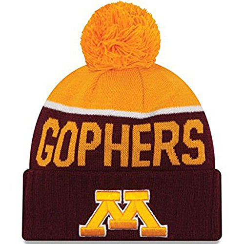 official photos 02cd1 3a1b9 ... clearance minnesota golden gophers new era ncaa red gold adult knit hat  598b0 a27af