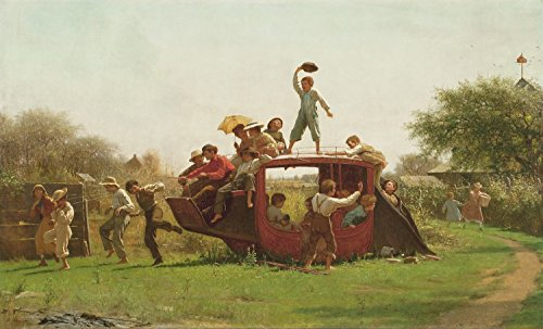 Odsan Gallery The Old Stage Coach - By Eastman Johnson - Canvas Prints 24