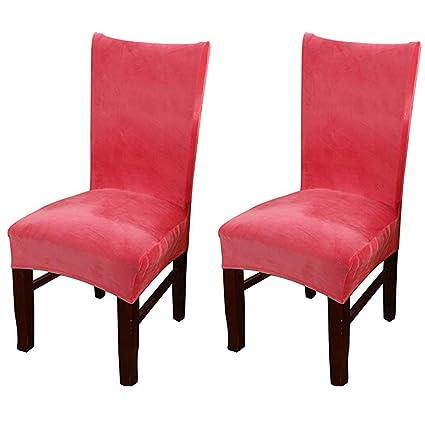 Wondrous Amazon Com Smiry Velvet Stretch Dining Room Chair Covers Uwap Interior Chair Design Uwaporg