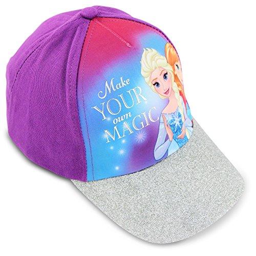 Disney Little Girls Frozen Elsa and Anna Cotton Baseball Cap, Age 4-7