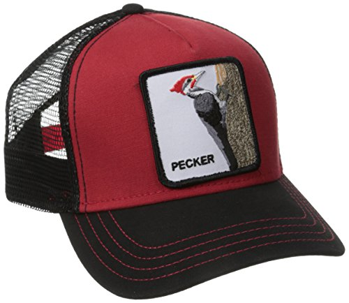 - Goorin Bros. Men's Animal Farm Trucker Hat, Black/Red Woodpecker, One Size