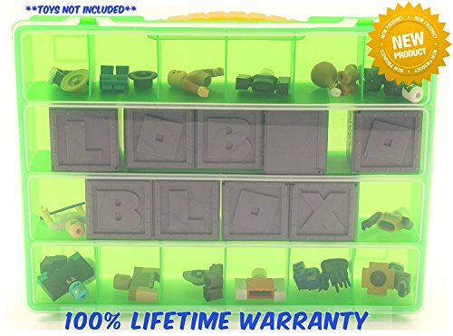 Life Made Better Carrying Case For Roblox  Figures - Stores Dozens Of Figures- Durable Toy Storage Organizers By Life Made Better - Green (Minecraft At Party City)