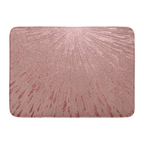 Antique Rug Rectangle Gold (Emvency Bath Mat Pink Foil Gold Metallic Glossy Rose Quartz Abstract Shiny Luxury Sparkling for Holiday Designs Party Bathroom Decor Rug 16