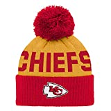 NFL Kansas City Chiefs Jacquard Cuffed Knit Hat with Pom Red, Infant One Size