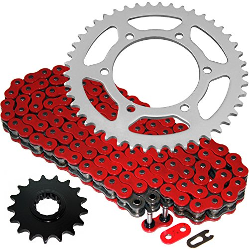 Caltric Red O-Ring Drive Chain & Sprockets Kit Fits YAMAHA R1 YZFR1 YZF-R1 2006-2008