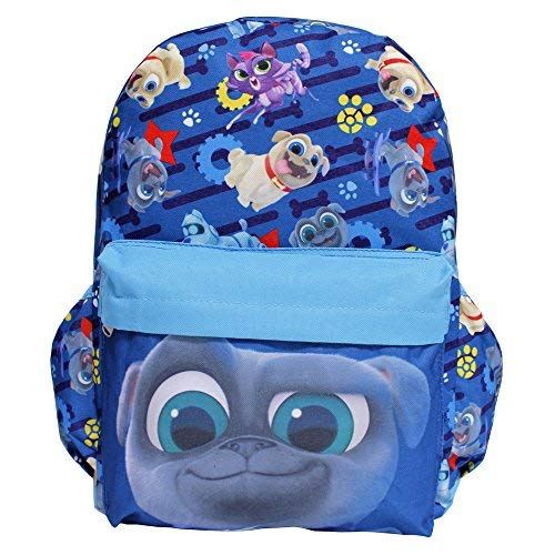 (Disney Junior Puppy Dog Pals Large Blue All-Over Print Boys' School Backpack- Bingo)