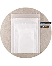 HVDHYY 20 Piezas Bolsa de Viaje Bolsa de Ropa Caja de plástico Bolsa de Engrosamiento de Doble Cara Diariamente 25 cm * 35 cm [9.8 Pulgadas * 13.8 Pulgadas] Directo de fábrica al por Mayor