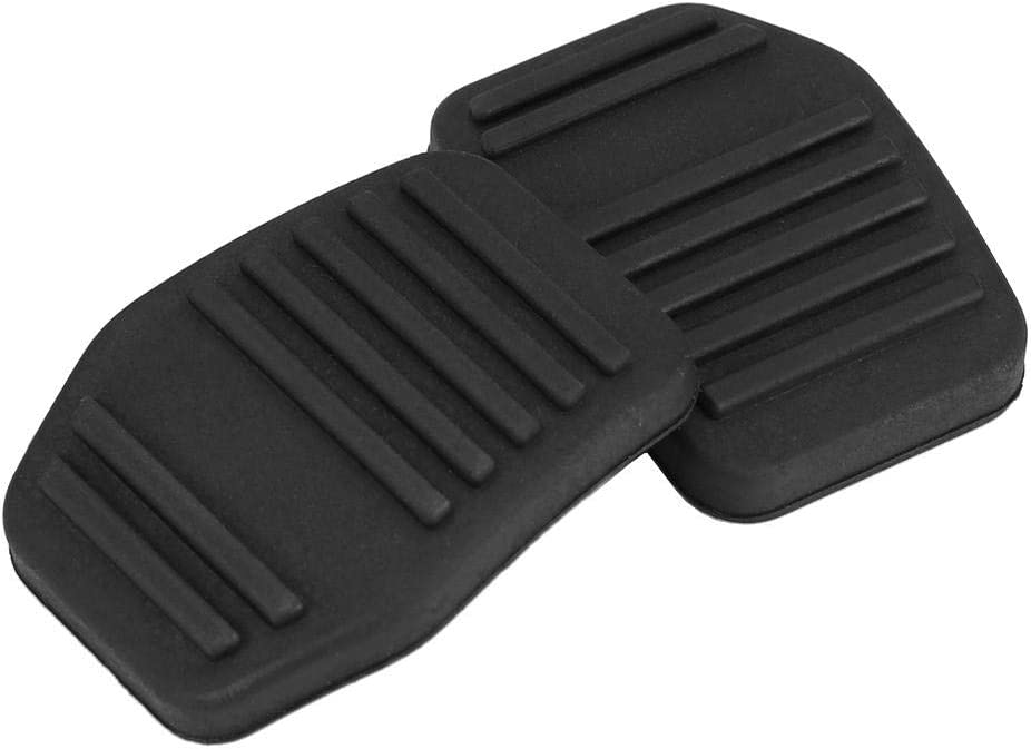 A Pair of Car Clutch Pedal Pads Auto Rubber Clutch Pedal Cover for Ford Transit MK6 MK7 2000-2014 Black