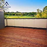 Alion Home© HDPE Privacy Screen For Patio, Deck, Balcony, Backyard, Fence - BEIGE(35''x 24')
