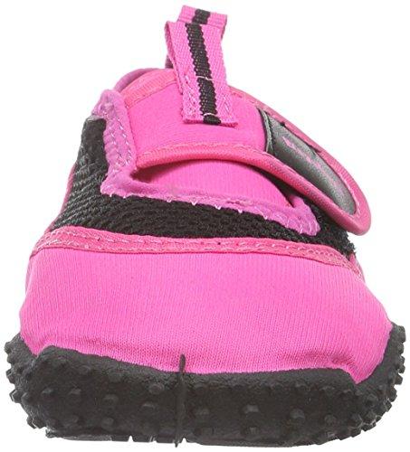 PlayshoesAquaschuhe, Badeschuhe Neonfarben mit höchstem UV-Schutz nach Standard 801 - Zapatillas Impermeables Niños-Niñas Rosa - rosa