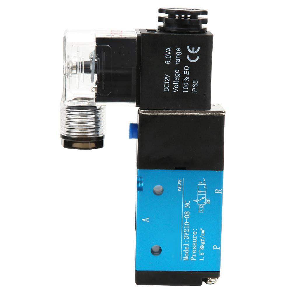 """3V210-08 Solenoid Valve,PT1/4""""Solenoid Valve, 2 Position 5 Way Electric Solenoid Valve (DC12V)"""