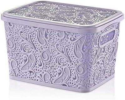 Pequeña caja de almacenamiento de plástico de encaje 10L con tapa Mini apilables Cajas de comida: Amazon.es: Hogar