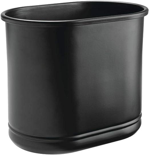 Colore Ideale come pattumiera differenziata o come contenitori rifiuti ufficio Grigio matt mDesign cestino spazzatura in metallo