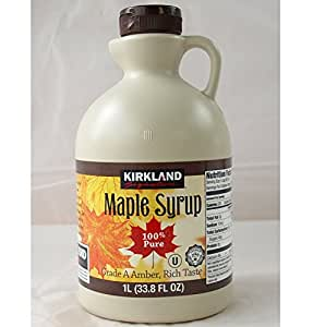 Kirkland Jarabe de arce, 100% puro y natural, grado A, Oscuro Sólido sabor 1L–Producto nuevo