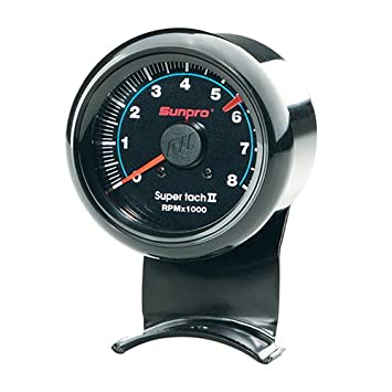 51RPG5C58FL._SY355_ amazon com sunpro cp7906 mini super tachometer ii black dial sunpro mini tach wiring diagram at n-0.co