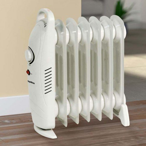 SupaWarm 800W Mini Oil Filled Radiator With Thermostatic Control