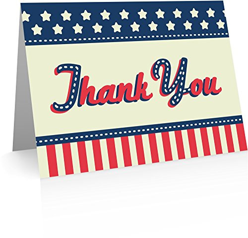 (Patriotic Thank You Cards (24 Fold-over Cards and Envelopes))