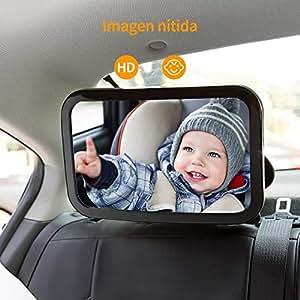Omorc espejo de asiento espejo de carro beb a la vista para seguridad en el auto espejo de la - Espejo coche bebe amazon ...