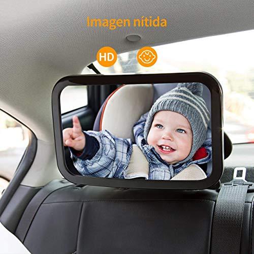 OMORC Espejo de Asiento, Espejo de Carro Bebé a la Vista para Seguridad en el Auto ,Espejo de la Vista Posterior para...