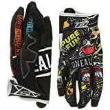 O'Neal Jump Gloves with Crank Graphic (Black/Multicolor, Size 9)