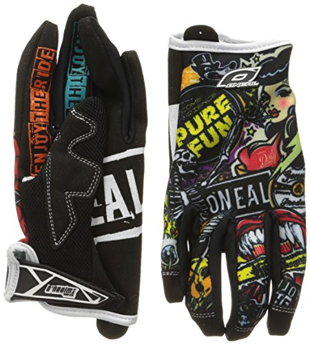 O'Neal Jump Gloves with Crank Graphic (Black/Multicolor, Size 9) ()