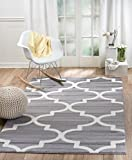 SUMMIT BY WHITE MOUNTAIN Summit R5-1OGW-9MAT 50 Grey Trellis Area Rug Modern Abstract Many Sizes Available, 7′.4″ x 10′.6″ Review