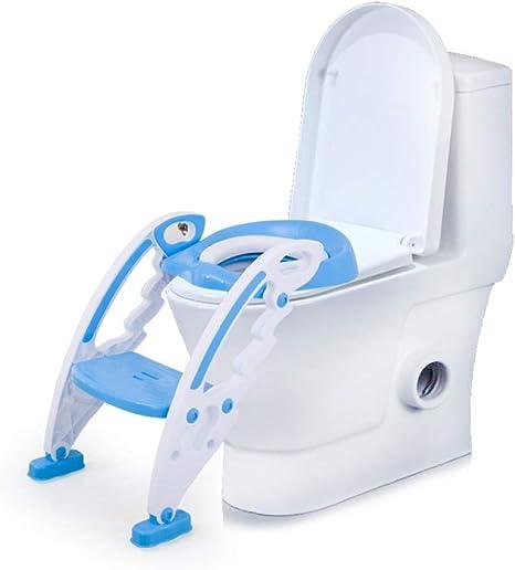 WC para niños asiento de inodoro escalera de tocador para bebés escalera para bebés portátil plegable inodoro de plásticoA: Amazon.es: Bebé