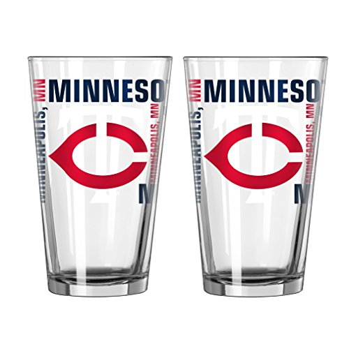 MLB Minnesota Twins Spirit Pint, 16-ounce, 2-Pack