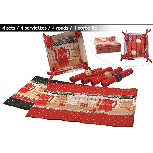 Acquisto REVIMPORT 06/0991 Set per caffettiera, in Tessuto, Colore: Rosso, Dimensioni: 22 x 21 x 8 cm, Set da 13 Pezzi Prezzi offerta