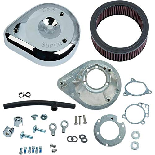 - S&S Cycle 170-0305B Teardrop Air Cleaner Kit - Chrome