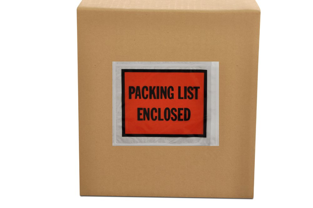 4.5'' x 5.5'' Packing List Enclosed Back Side Loading Envelopes Pouches (1000 pcs)
