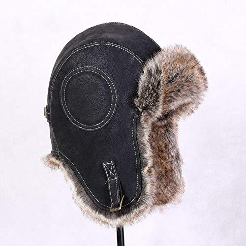 Negro Impermeable Earflap Invierno Chico Sombreros Viento Hombre Para A Nzdher Hombres Sombrero Espesar De Prueba Los Black 7HXZwO