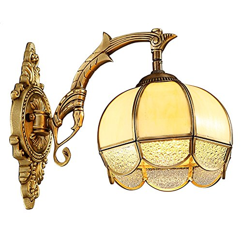Porcelain Brass Sconce (Industrial Vintage Wall Sconces Royal Opera Full Brass Wall Lights Copper Lights Luxury Villas in Road corridors in The Living Room Bedroom Wall lamp)