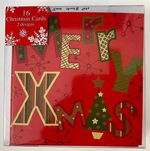 shop inc Pack de 16 x Childrens Adulto Pequeña Navidad Tarjetas de Navidad Escuela de la Oficina Amigos: Amazon.es: Hogar