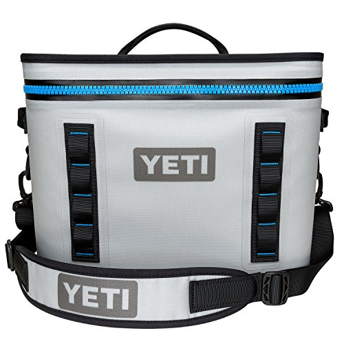 - YETI Hopper Flip 18 Portable Cooler, Fog Gray/Tahoe Blue