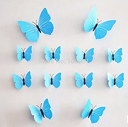 12pc home 3d butterfly wall stickers with magnet simple removable