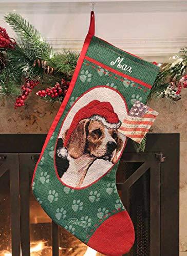 Personalized Beagle Pet Christmas - Christmas Beagle Stocking